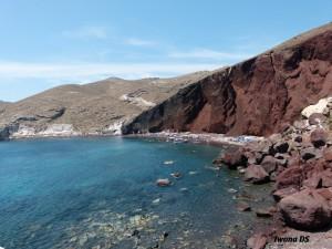 thira,fira santorini,akrotiri,czerwona plaża